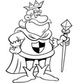 Cartoon King Holding a Scepter vector image vector image