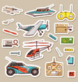 children toys constructor vintage aircraft boat vector image