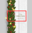 christmas on white wooden background vector image