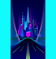 City night bridge vector image