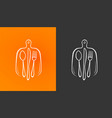 cooking logo or label restaurant menu symbol vector image vector image