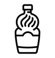 cooking vinegar icon outline style vector image