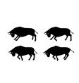 cow ox and bull in silhouette design side view vector image vector image