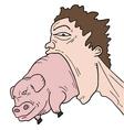 Crazy pig vector image vector image