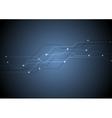 Dark blue circuit board chip tech background vector image vector image