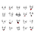 emotions cartoon facial expressions set vector image
