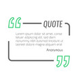 empty quote text box design element vector image vector image