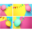 festive backgrounds with colorful balloon and vector image vector image
