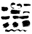 Figured brush strokes vector image vector image