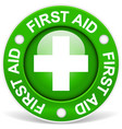 first aid green vector image