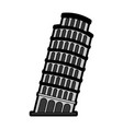 flat leaning tower of pisa vector image vector image