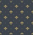 fleur-de-lis seamless pattern background vector image vector image