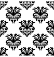Floral damask style seamless pattern vector image vector image