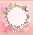 frame doodle patterns us a beautiful pink vector image vector image