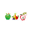 fruit vegetable template set vector image