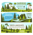 green landscape design and gardening service vector image
