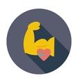 Icon of bodybuilding vector image