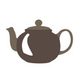 isolated colored teapot vector image vector image