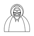 Isolated man with jacket of winter design vector image vector image