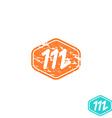 Logo M letter mockup emblem effect shabby paper vector image vector image