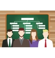 organization structure write on board with team vector image vector image