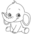 outlined baelephant vector image vector image