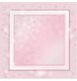 paper frame on pink background with shadow vector image vector image