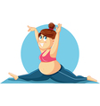 Plus Size Girl Doing the Splits Cartoon vector image