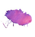purple shade watercolor stain texture background vector image vector image
