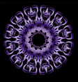 purple ultraviolet mandala with metallic effect vector image