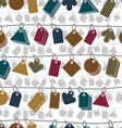 Sale tags on a rope seamless background icon set vector image vector image