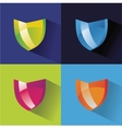 security icons flat set on colored background vector image