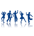 Silhouettes of little boys and girls vector image vector image