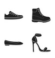 sneakers with laces winter warm boots on high vector image vector image