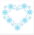 Snowflake heart winter vector image vector image