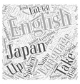 spoken english course Word Cloud Concept vector image vector image