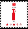 spray bottle silhouette vector image vector image