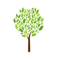Tree Icon on white background vector image vector image