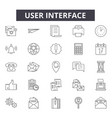user interface line icons signs set vector image vector image