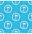 Vacation sign blue pattern vector image vector image