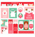 valentines day set for scrapbooking vector image vector image