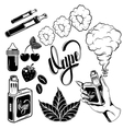 Vape Icon Set vector image vector image