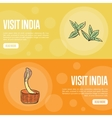 Visit India Touristic Web Banners vector image vector image