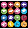 Weather icons set - vector image vector image