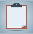Blank clipboard vector image