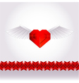 Paper valentine love heart vector image