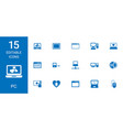 15 pc icons vector image vector image