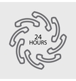 24 hours handset icon vector image