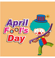 april fools day a jester balloon background vector image vector image