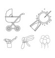 artificial insemination baby carriage instrument vector image vector image